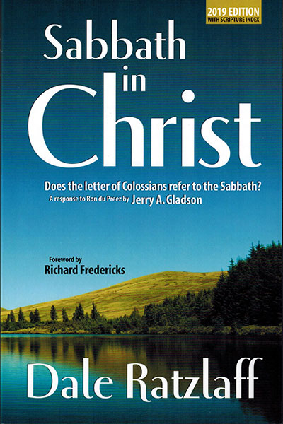 Sabbath In Christ Book Cover